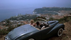 To Catch a Thief (1955) film still of Grace Kelly and Cary Grant at the picnic overlook location near Monaco