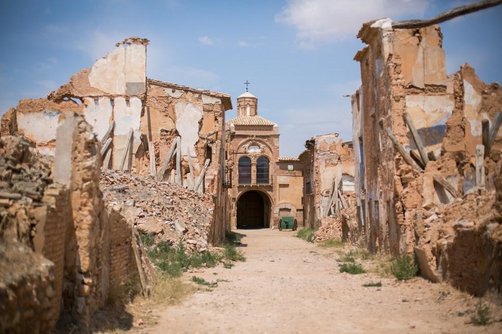 Ruins of Belchite in Spain