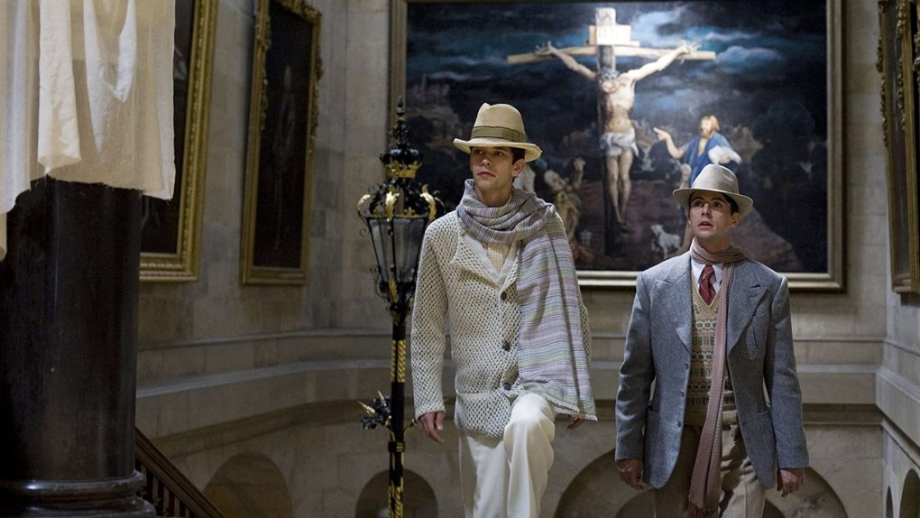 Brideshead Revisited (2008) film still of two men in a gallery in venice