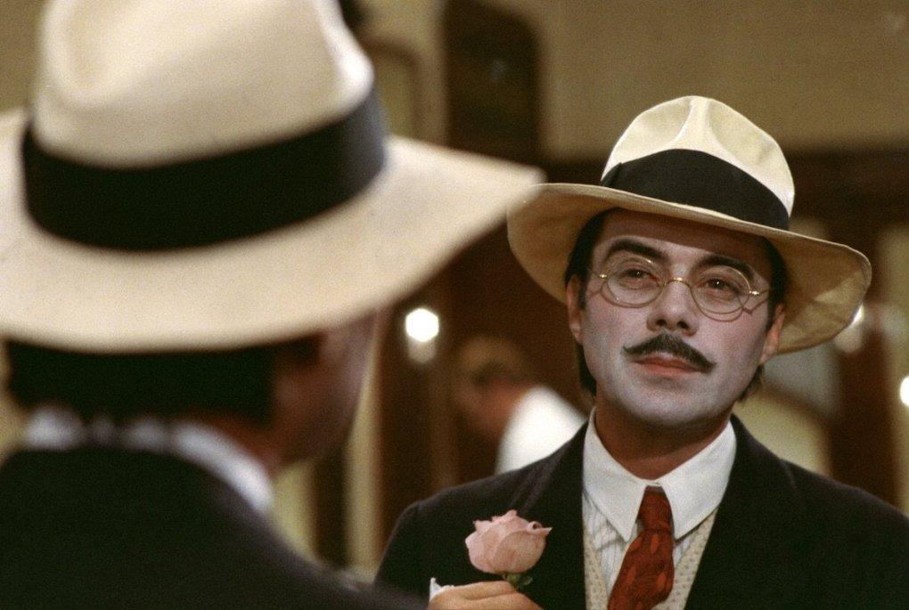 Death in Venice (1971) film still of a man staring in a mirror