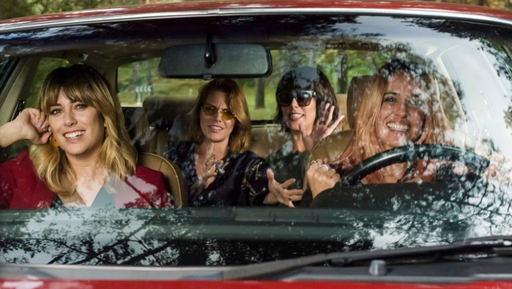 Despite Everything (2019) film still of four sisters in a car