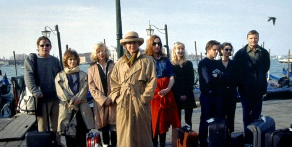 Italian for Beginners (2000) film still of a group of people standing by Venice canal