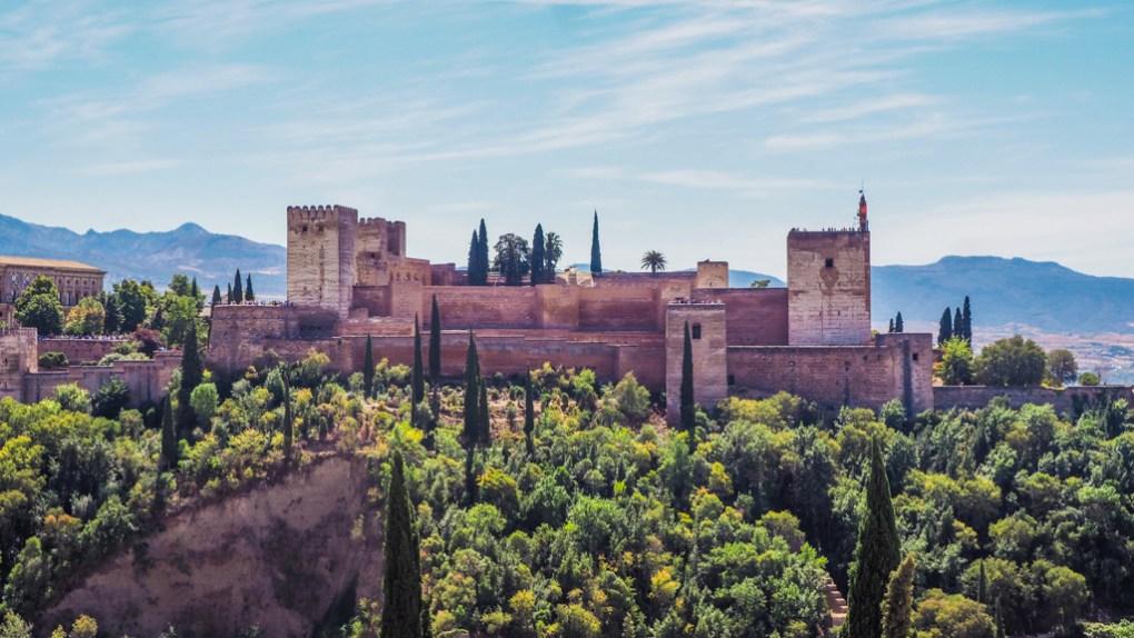 Alhambra Palace in Málaga, Spain