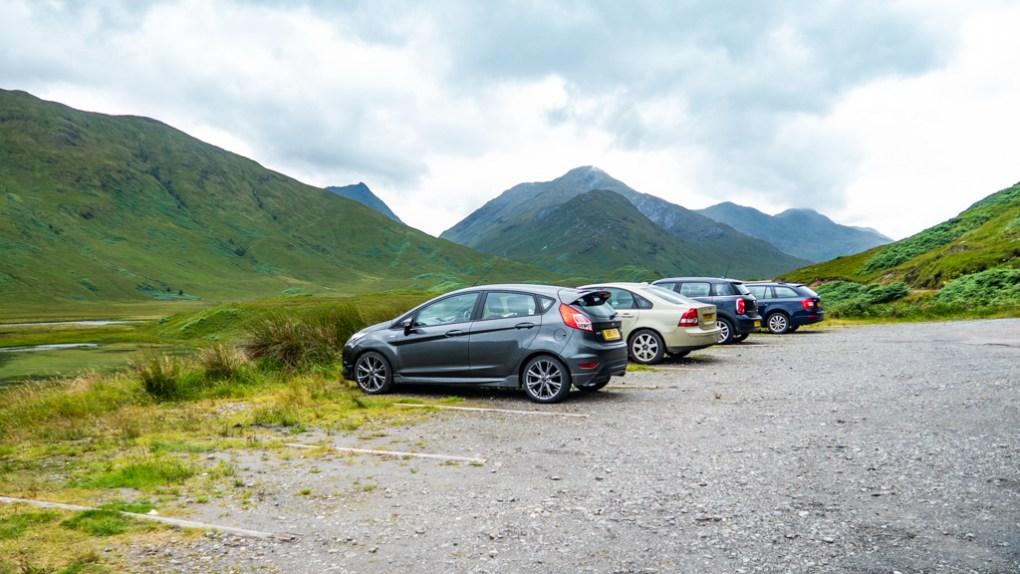 Loch Arkaig Parking Place in Scotland