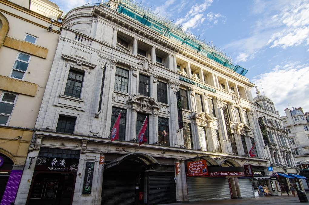 London Trocadero, a Harry Potter filming location in London