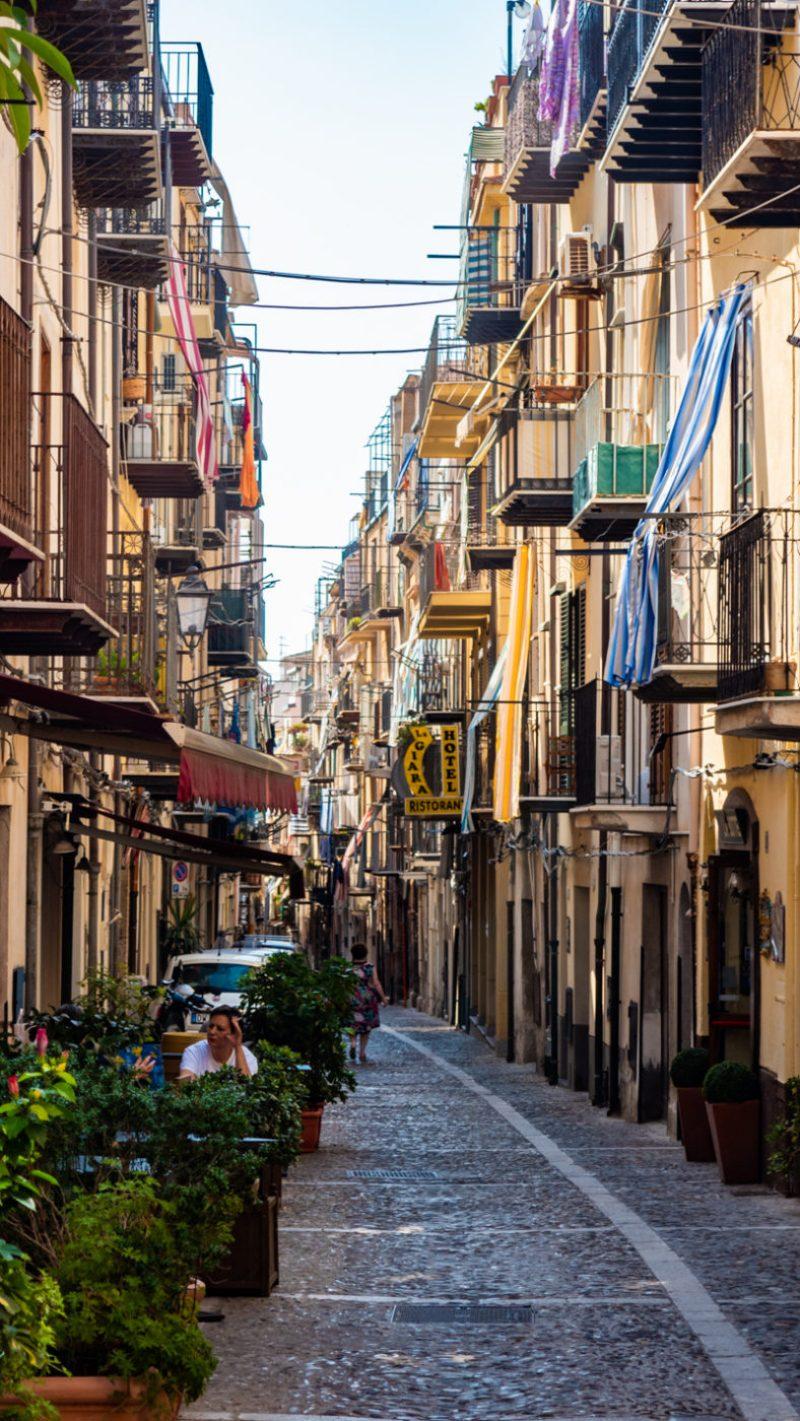 A street in Cefalù, Sicily