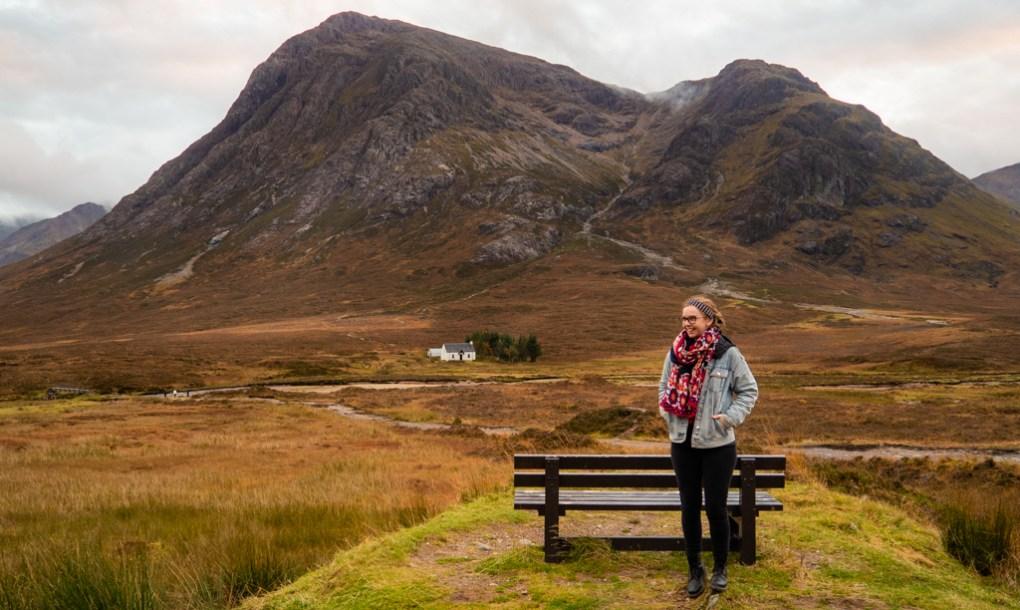 Almost Ginger blog owner at Glen Coe, Scotland