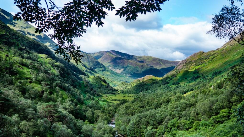 Glen Nevis in Scotland