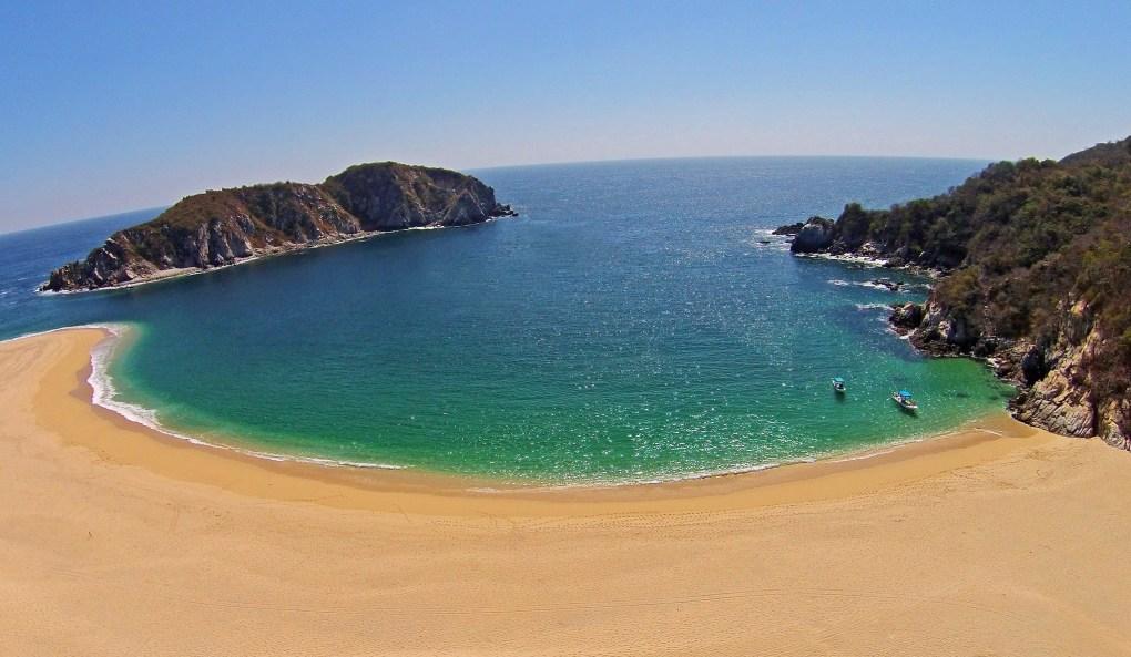 Famous Filming Location Bahia de Cacaluta Beach in Oaxaca, Mexico