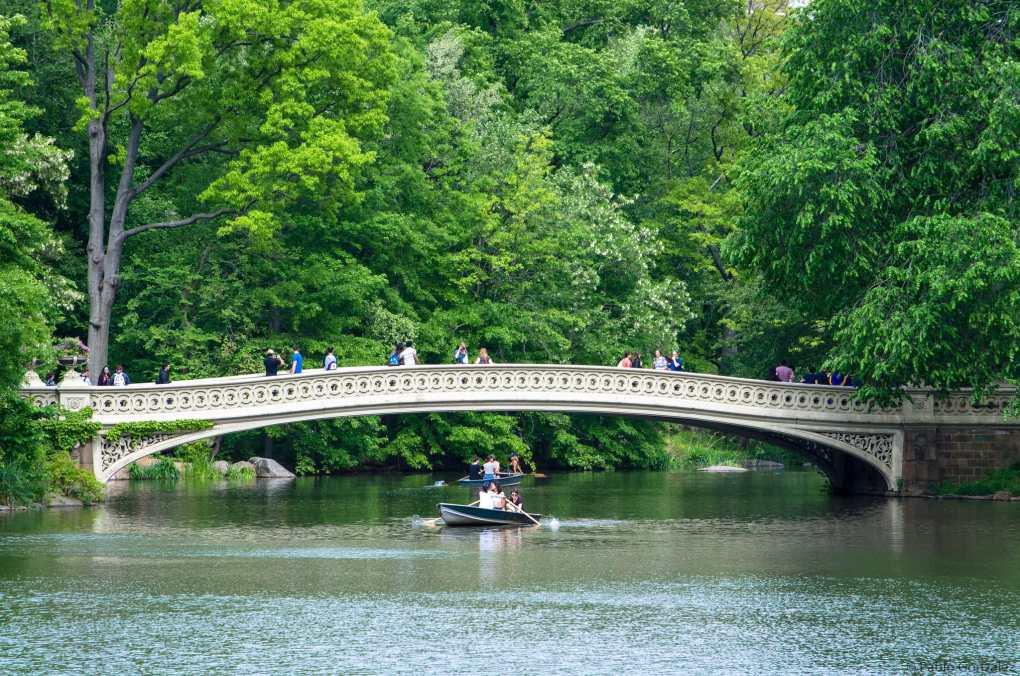 Bow Bridge in Central Park, New York City USA Highlander Filming Location