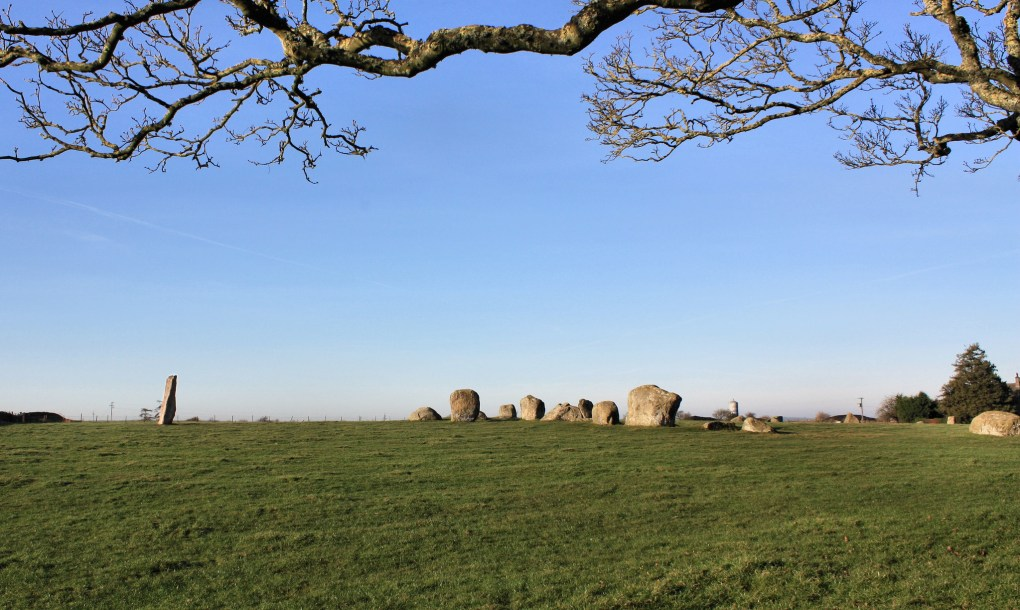 Long Meg and Her Daughters Standing Stones in Penrith, England