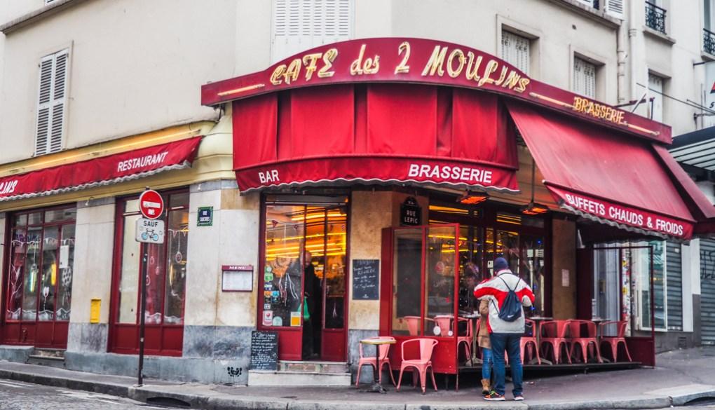 Famous Movie Location Café des 2 Moulins in Paris, France