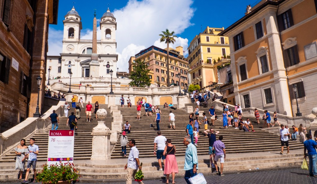 Famous Movie Location Spanish Steps in Rome, Italy