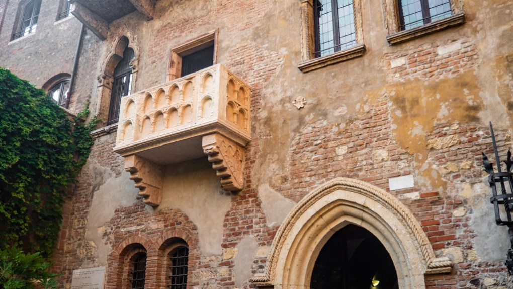 Famous Movie Location Juliet's House in Verona, Italy