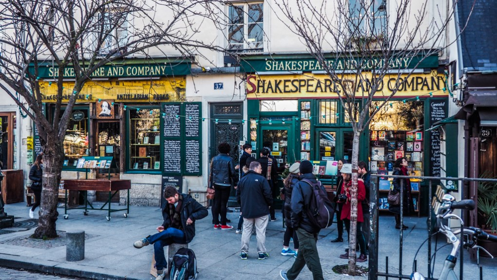 Famous Movie Location Shakespeare & Company Bookshop in Paris, France
