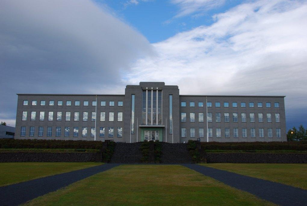 University of Iceland Main Building in Reykjavík, Iceland