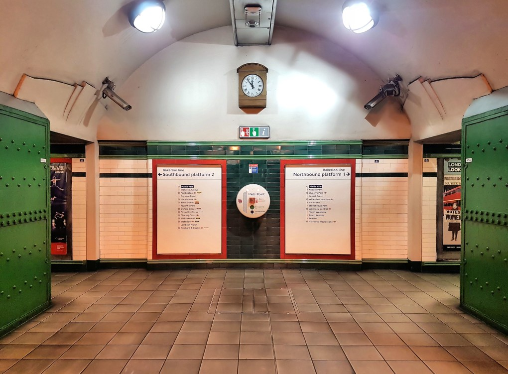 Maida Vale Tube Station in London, England About Time Filming Location
