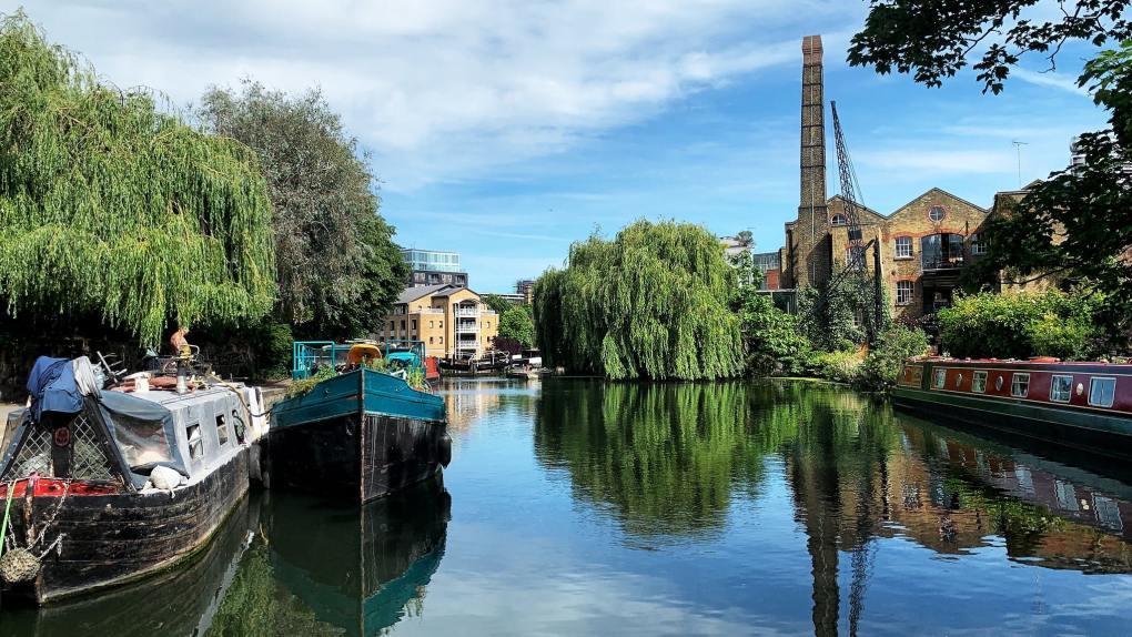 Regent's Canal in London, England Paddington Filming Location