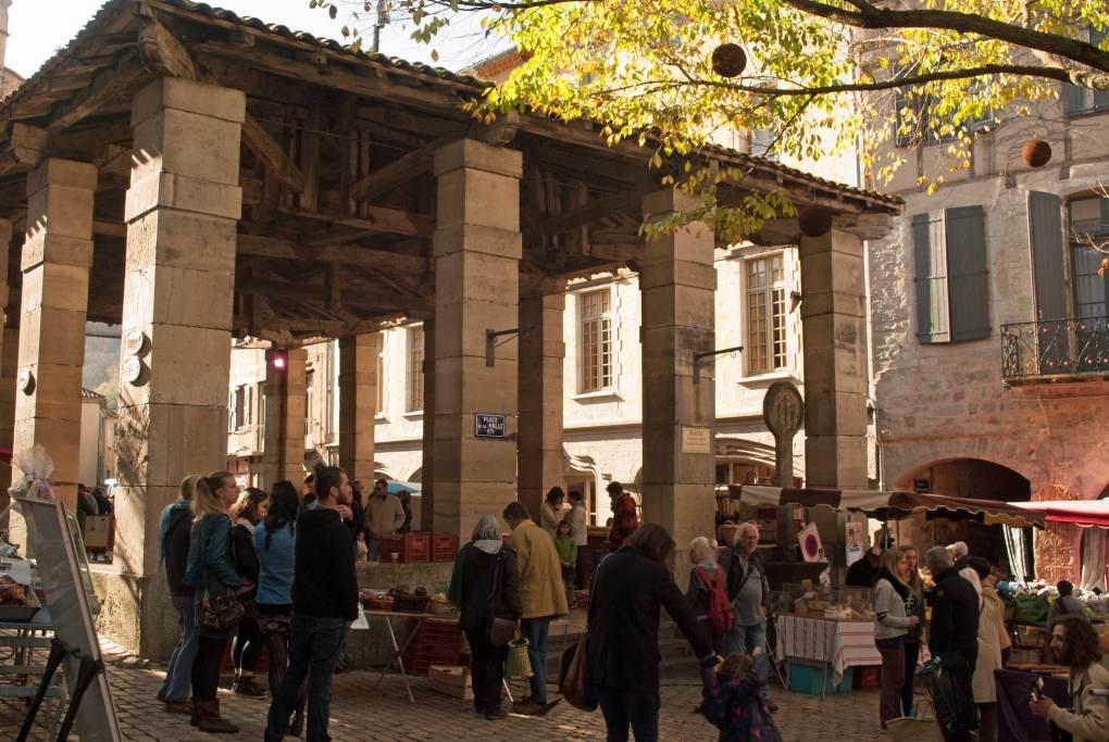 Halle de Saint-Antonin-Noble-Val in Tarn-et-Garonne, France