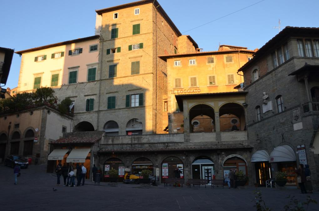 Piazza in Cortana, Italy as seen in Under the Tuscan Sun