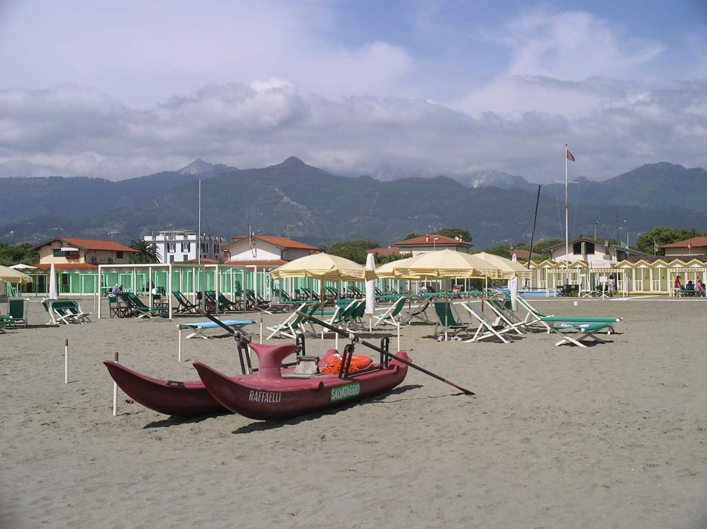 Forte dei Marmi beach in Lucca, Italy