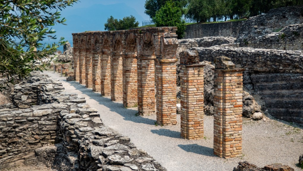 Archaeological site of Grotte di Catullo in Sirmione, Italy Call Me By Your Name Location