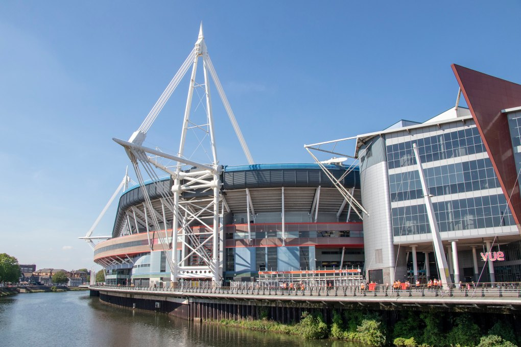 Principality Stadium in Cardiff, Wales