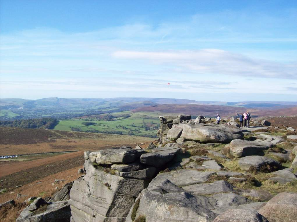 Stanage Edge in the Peak District National Park, England
