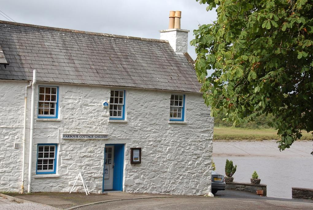 Harbour Cottage Gallery in Kirkcudbright, Scotland The Wicker Man Filming Location