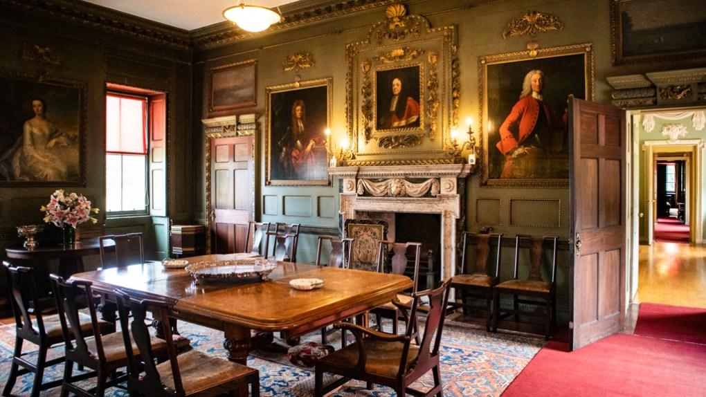 Newhailes Estate Dining Room in Musselburgh, Edinburgh in Scotland Edinburgh Outlander Location