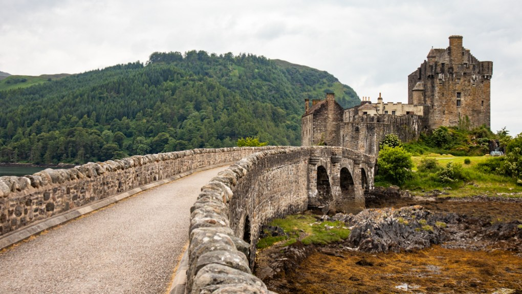 Eilean Donan Castle in the Kyle of Lochalsh, Scotland
