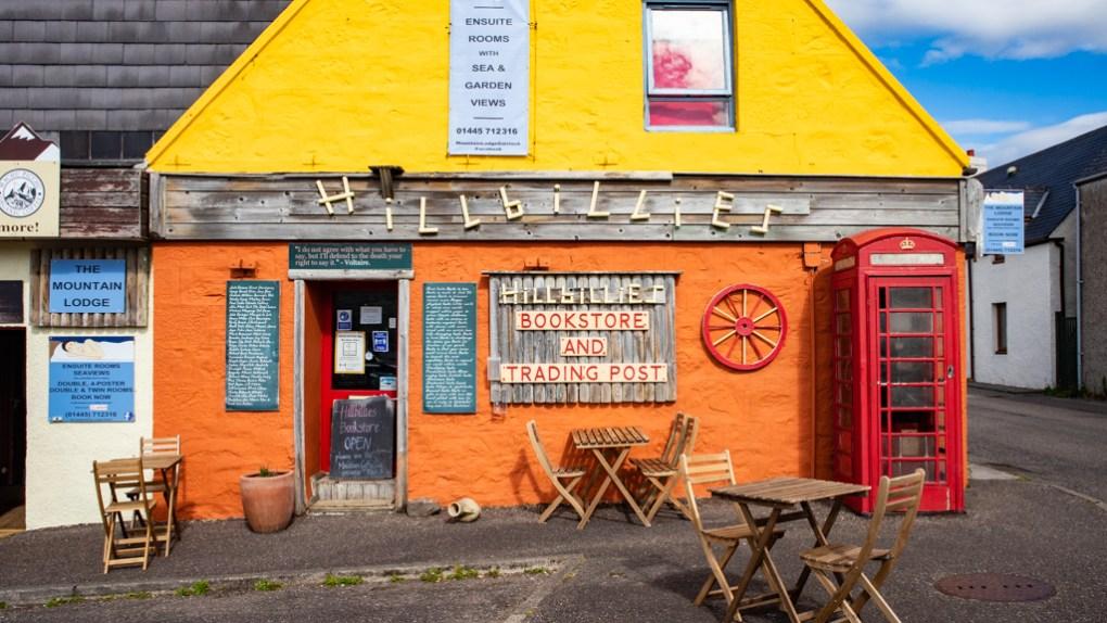 Hillbillies Bookshop and Coffeeshop in Gairloch, Scotland North Coast 500