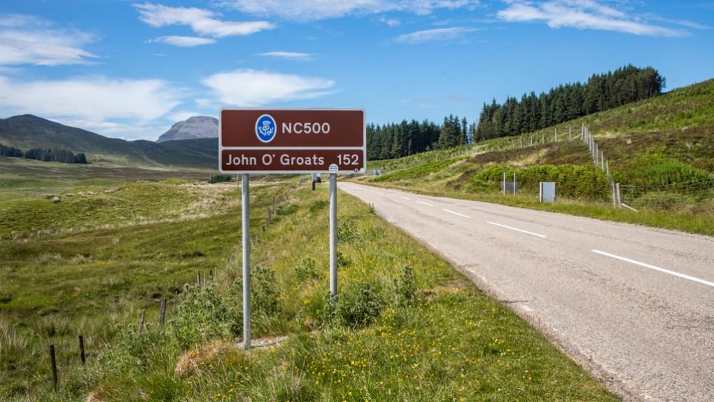 North Coast 500 Road Sign in Scotland