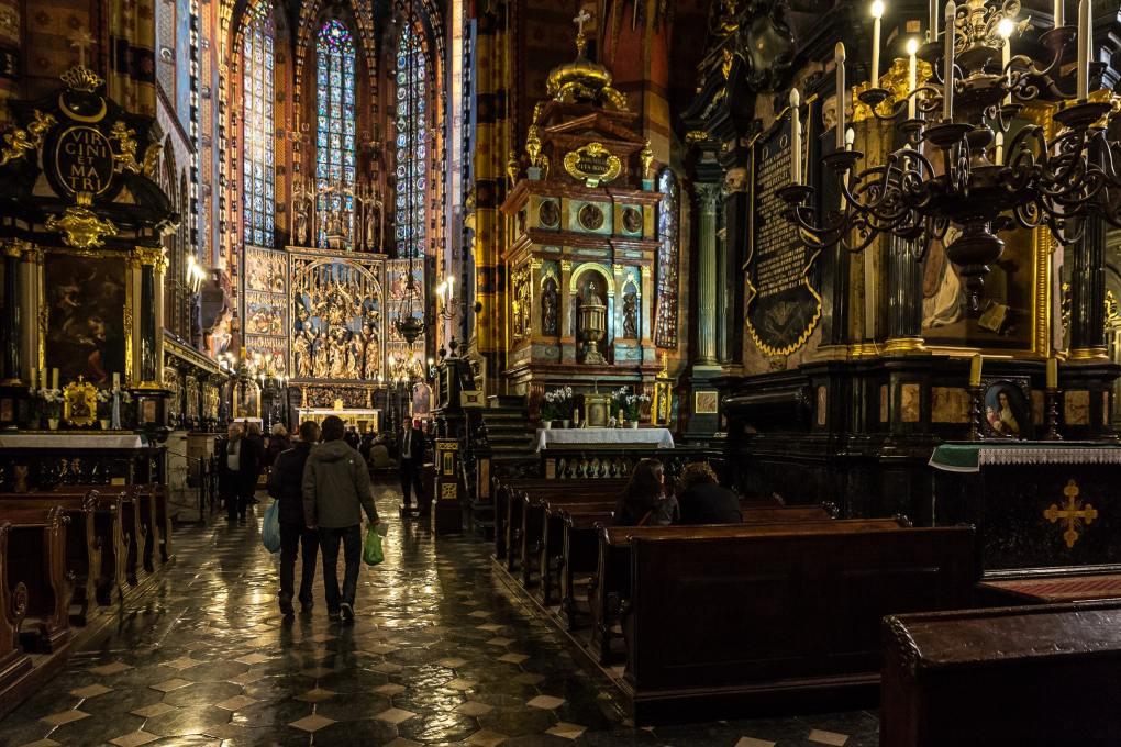 St Mary's Basilica in Kraków, Poland