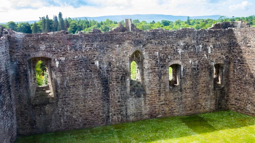 Courtyard at Doune Castle in Doune, Scotland