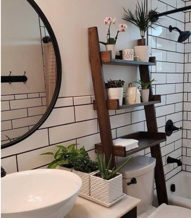 Bathroom Etargere   Etsy