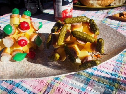 pickled things on sticks