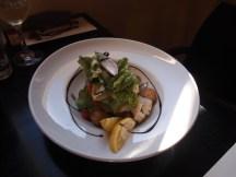 Hapuka, baby potatoes, salad, capers,