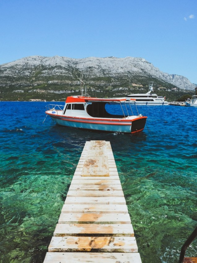 Boat And Jetty Korcula