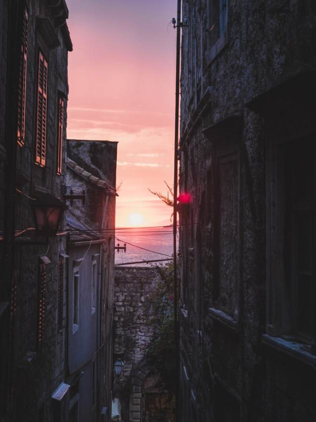 Korcula Old Town Sunset