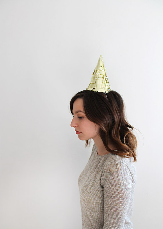 diy gold fringe hat