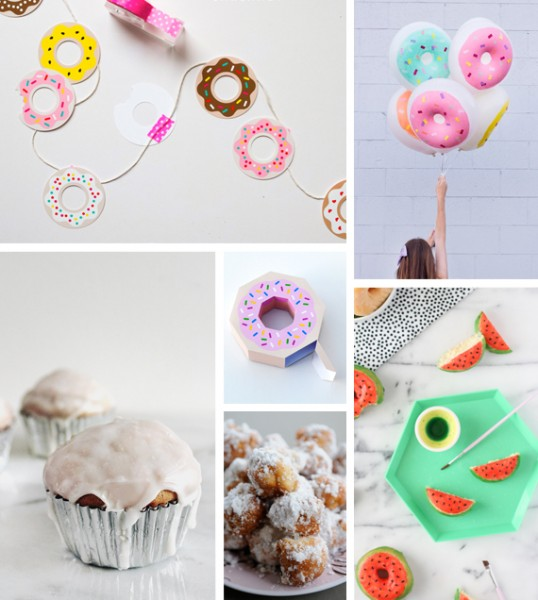 donut printables oh happy day - 538×600