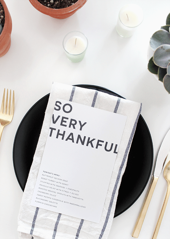 thanksgiving menu printables | almost makes perfect