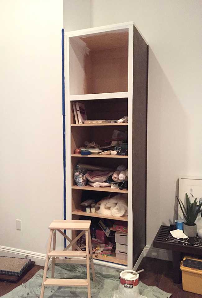 built in cabinet facelift | almost makes perfect