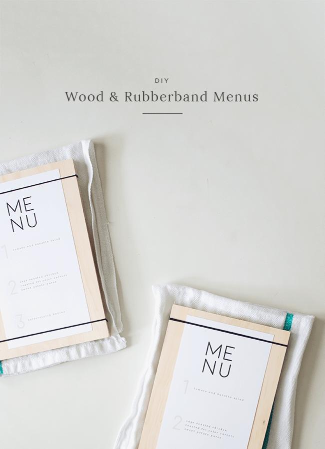 DIY wood + rubber band menus | almost makes perfect