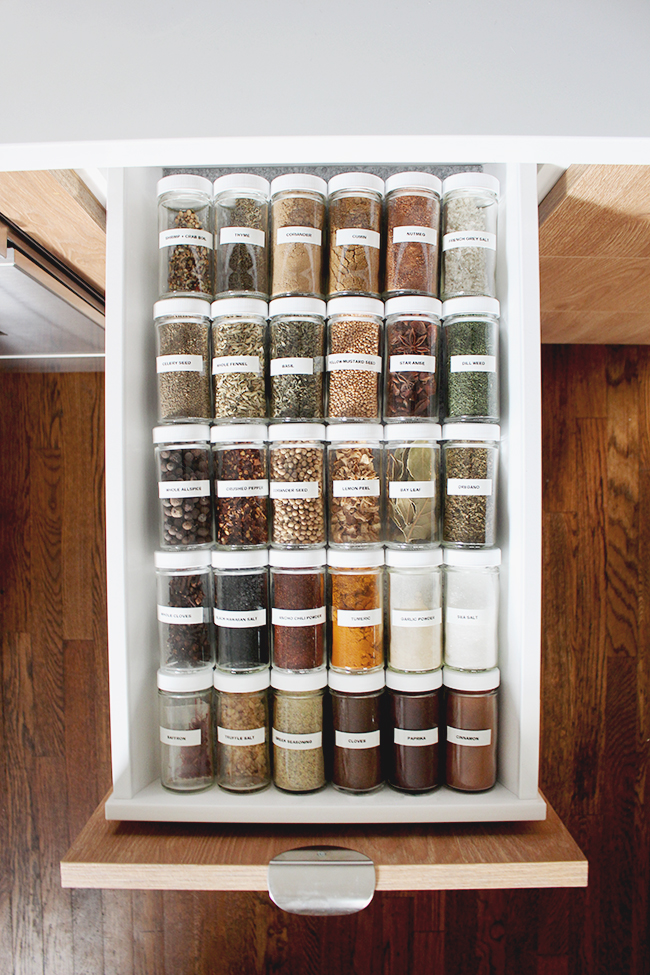 organized spice drawer | almost makes perfect