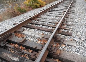 Rail road track Maine