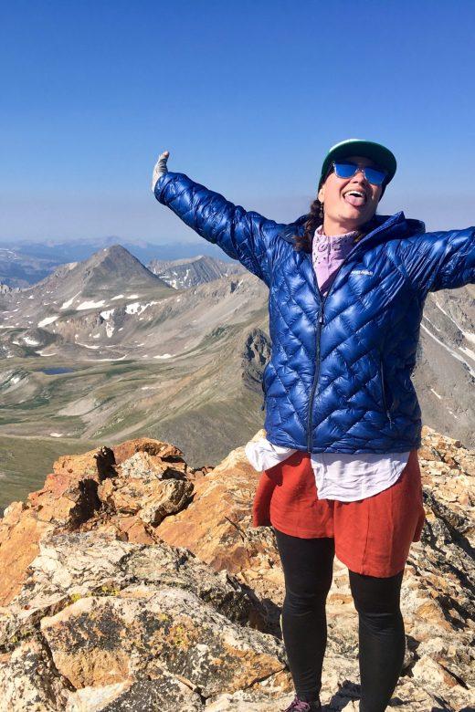 Shawnte Salabert on Mount Belford