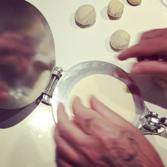 Making tortillas from scratch to avoid more plastic packaging!