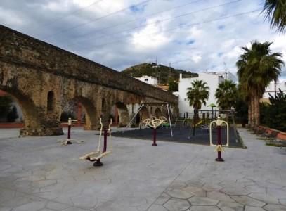 Almunecar playgrounds and exercise Roman Aqueduct Torrecuevas